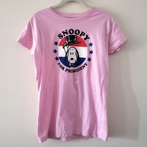 Snoopy for Presisent Pink T Shirt